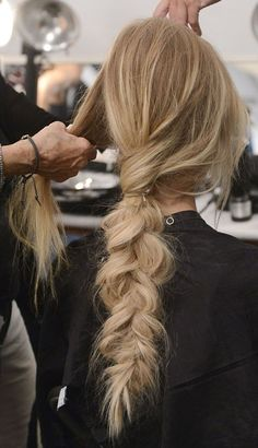 beautiful blonde color and a gorgeous braid styled here at Canale Salon. Book your appointment today in our two locations! #blonde #braid #updo #style #bridal