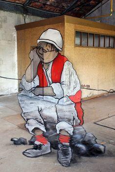 Ella & Pitr New Mural - Pont Salomon, France  #StreetArt #Culture #Art