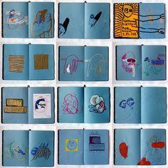 Guilherme Dietrich's sketchbook pages. Moleskine Sketchbook, Artist Sketchbook, Sketchbook Pages, Sketchbooks, Collages, Collage Art, Buch Design, Sketch Inspiration, Art For Art Sake