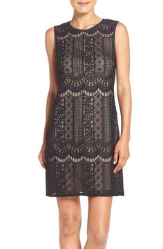 Adrianna Papell Adrianna Papell Lace A-Line Dress (Regular & Petite) available at #Nordstrom