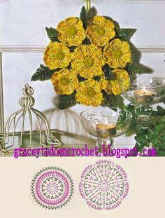 Different  flower designs  with diagrams !   ***   Diferentes diseños de flores con diagramas!                                           ...