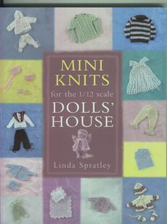 """Photo from album """"Mini knits Dolls'house"""" on Yandex. Barbie Knitting Patterns, Knitted Doll Patterns, Miniature Crafts, Miniature Dolls, Miniature Houses, Knitted Dolls House, Miniature Dollhouse Accessories, My Doll House, Barbie House"""