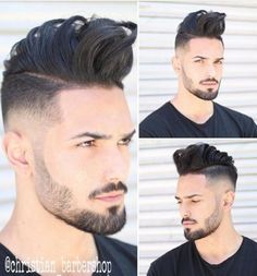 Looking for the best & trendy medium length hairstyles and haircuts for men? Believe me, you're gonna love these hairstyles & haircuts for Barber Haircuts, Cool Haircuts, Haircuts For Men, Trending Hairstyles For Men, Mens Medium Length Hairstyles, Modern Pompadour, Beard Styles, Hair Styles, Mohawk Hairstyles