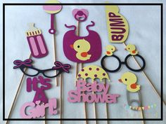 Baby Shower Photo Props Baby Shower Photo Booth by ALittleBitOfAud
