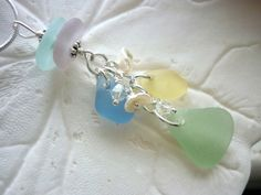 Sea Glass Necklace Pretty Pastel Spring Summer Colors Beach Jewelry  TheMysticMermaid