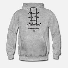 Meine Frau Wahnsinn Schwarz Spruch für Männer Männer T-Shirt | Spreadshirt Cinch Bag, Day Trader, Music For Kids, Short Sleeves, Long Sleeve, Hoodies, Sweatshirts, Zip Hoodie, Custom Clothes