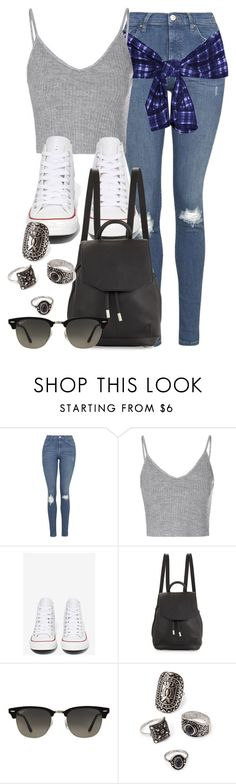 """""""Style #9990"""" by vany-alvarado ❤ liked on Polyvore featuring Topshop, Glamorous, Converse, rag & bone, Ray-Ban and Forever 21"""