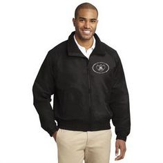 Port Authority Tall Lightweight Charger Jacket. A wear-anywhere lighter weight jacket at an out-of-this-world price. Built to charge through mild wind and rain, our Lightweight Charger Jacket features a water-resistant shell and warm fleece body lining for year-round versatility. 100% polyester Taslan shell 100% polyester lightweight fleece body lining 100% polyester sleeve lining Vislon zipper Front zippered pockets Interior pocket Port Pocket for easy embroidery access Elastic cuffs with…