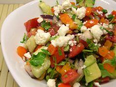 Foto recept: Salade van avocado, tomaat en paprika