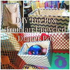 DIY Toy Box Diaper Box