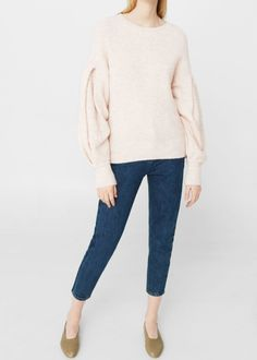 Puffed sleeves sweater -  Women   MANGO USA