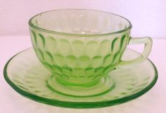 Federal  Glass Cup/Saucer.