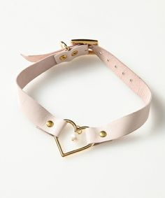 HEART RING LEATHER 2WAY CHOKER Candy Stripper of (candy stripper) (necklace) | detail image