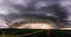 A monster shelf cloud moves towards the small community of San Manuel in southeastern Arizona
