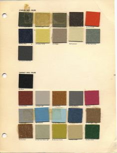All the original colors for the Herman Miller Eames chairs. So much loveliness!