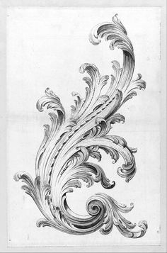 Acanthus leaf flourish