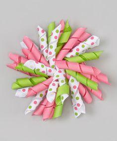 Pink & Lime Large Korker Clip