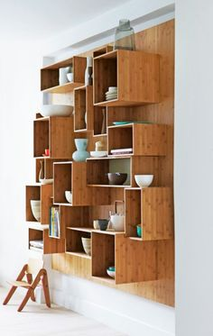 Re-creation wood crate case modern kitchen cabinets stackable modular unit tiered open shelf storage bookshelf stacked organization stand