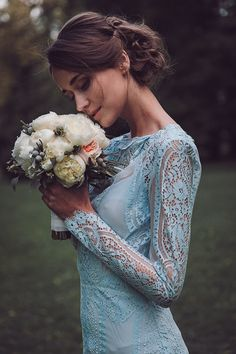 the prettiest blue wedding dresses on instagram blue wedding