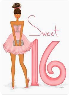 Sweet 16 Birthday Card - art & fashion illustration card featuring glitter and metallic accents. Happy Birthday Sweet 16, 16th Birthday Wishes, Happy Birthday Wishes Images, Happy Birthday Pictures, Happy Birthday Greetings, Birthday Messages, Girl Birthday, Birthday Fashion, Birthday Month