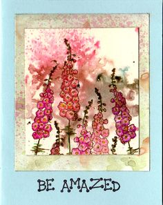 Card made with Stampinback.nl stamps on bister background, matting background various pigments -sjf
