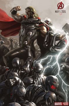 Thor concept art from Marvel's Avengers: Age of Ultron by Charlie Wen