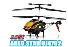 "YIBOO UJ4702 Mini 3 Channel LED Light 7"" RC Helicopter w/ Gyro - Red Black $39.99"