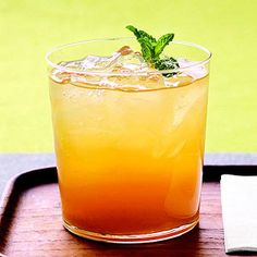 Minted fruit iced tea