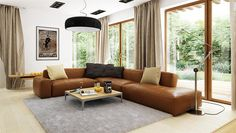 Zdjęcie projektu Julia WRP1452 House Plans, Floor Plans, Couch, Flooring, Interior, Furniture, Home Decor, Albums, Houses