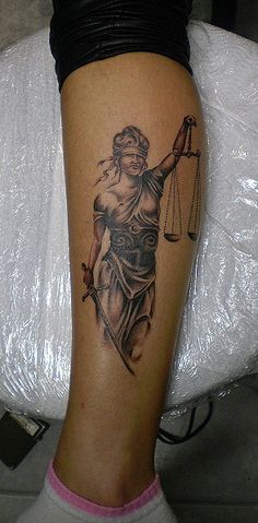 Tattoo by Grga  Lady Justice #Christmas #thanksgiving #Holiday #quote