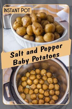 A super easy Instant Pot side dish, that will surely please your kids. Season them with your favorite spices or sauces and serve them as a side dish with meat or fish.    Thanks to your Pressure Cooker, you will have plenty of time to do something else (or just relax), while it will perfectly cook your dinner.