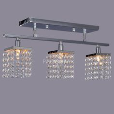 US $ 79.99 only with one product of Chandeliers on sale, buy Crystal Pendant Lights Flush Mount with 3 Lights right now on Paccony.com.