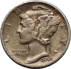 1942 Mercury Dime for sale online Retirement Countdown, Silver Coins For Sale, Silver Investing, Investing For Retirement, Valuable Coins, Countdown Calendar, Car Storage, Rare Coins, Money Matters