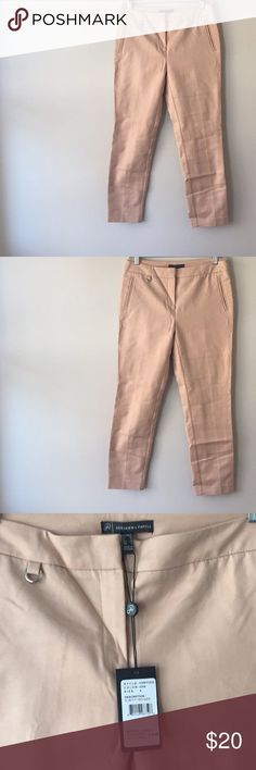 Adriana Papell Slim Fit Trouser Adorable blush colored Work trouser with slim fit.  NWT. Purchased but we're too short for my long legs. Perfect spring staple! Adrianna Papell Pants Trousers