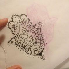 Simple Hamsa tattoo!