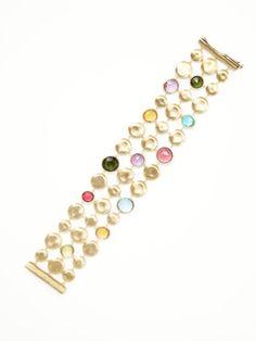 Jaipur Multicolor Triple Row Bracelet from Designer Spotlight: Marco Bicego on Gilt
