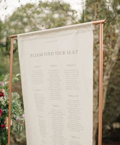 Linen Table Plan With Printed Details From Bureau Design For Jenna Hewitt Wedding // Image By M&J Photography Wedding Sitting Plan, Seating Plan Wedding, Wedding Signage, Wedding Menu, Wedding Table, Wedding Planner, Wedding Invitations, Wedding Foods, Seating Plans