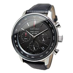 Amazon.co.jp: セイコー SEIKO クオーツ クロノ メンズ 腕時計 SSB171P1 ブラック [逆輸入品]: 腕時計通販