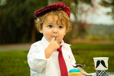 Cupcake for a Little Man themed photo shoot. #kids #sweets
