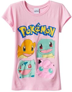 47d4ce07 Girls 7-16 Pokemon Characters Graphic Tee Pokemon Go, Graphic Tees,  Monsters,