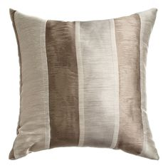 Softline Home Fashions Decorative Pillow Colma Stripe in Natural. Elegant jacquard stripe design on linen blend for traditional styling. Drapery Panels, Stripes Design, Color Splash, Decorative Pillows, Throw Pillows, Traditional, Elegant, House Styles, Natural