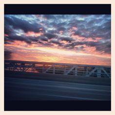 Heart of America Bridge sunset Heart Of America, Bridge, Celestial, Sunset, Landscape, Outdoor, Outdoors, Scenery, Bridge Pattern