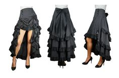 Rock Steampunk Pin Up Skirt Gothic Lolita Vintage Burlesque Victorian Vintage bl