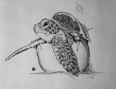 Baby Great A'Tuin - Discworld - Pratchett - by Amy Simmonds