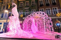 the old market ice sculpture festival in poznan