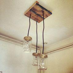 Luminaires, plafonnier  Palettes & bocaux meuble palette WEUP