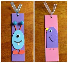 ECM Kid's Craft Club - tutorial for foam bookmarks Kids Crafts, Foam Crafts, Preschool Crafts, Diy And Crafts, Arts And Crafts, Paper Crafts, Paper Toys, Paper Art, Paper Bookmarks