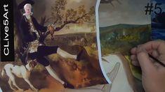 Old master Painting Thomas Gainsborough in acrylic Diary # 5 acrylic pai...