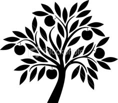 Apple tree Royalty Free Stock Vector Art Illustration