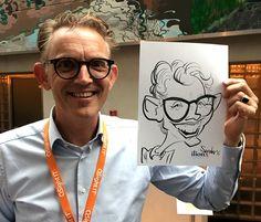 Optreden tijdens bedrijfsevent in Fort Voordorp - De Karikaturist